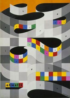 Olivetti Poster, Designed by Herbert Bayer, 1959