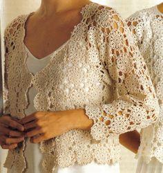 Womens Crocheted Jacket and Top - Vintage Digital Crochet Pattern - PDF Instant Download - PrettyPatternsPlease