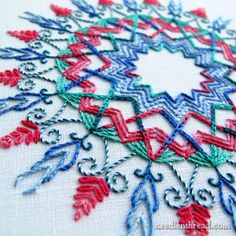 Kaleidoscope Embroidery Design Sample