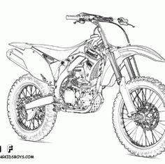 dirt bike coloring sheets of ktm 450 exc | mighty motorcycle ... - Dirt Bike Coloring Pages Print
