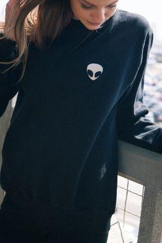 Brandy ♥ Melville   Erica Alien Patch Sweater - Graphics