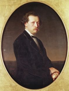 Nikolay Rubinstein (1835-1881), painting (1870), by Vasily Perov [1834-1882).