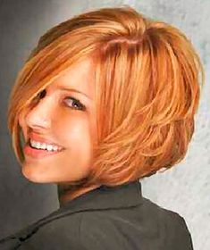 Short layered bob..