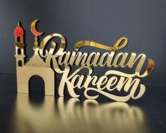 Decoraciones Ramadan, Ramadan Crafts, Ramadan Activities, Islamic Wall Decor, Pin On, Small Letters, Islamic Gifts, Decoration Table, Home Gifts