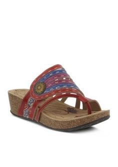 LrsquoArtiste by Spring Step Red Claudia Sandal