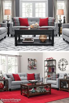 Charming One Great Way To Decorate With Red Is To Add In Bright Red Accents To Your  Space. This Living Room Collection Comes With These Fun Throw Pillows, ...