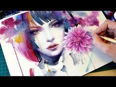 DIBUJA Ojos - con ACUARELA- ✽ [ PASO A PASO]- tecnica, y textura - Isabelle Art - - YouTube