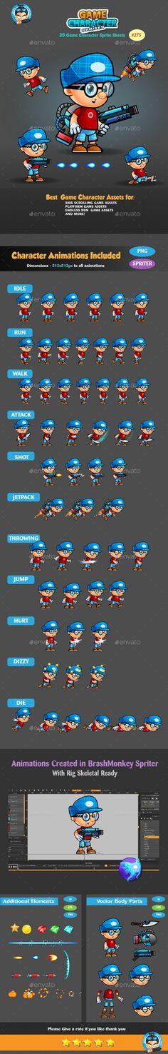 2D Game Character Sprites 275 Download here: https://graphicriver.net/item/2d-game-character-sprites-275/18799669?ref=KlitVogli