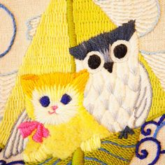 The Owl and the Pussycat embroidery