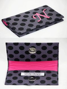 Personalized Business card holder / Handmade by GisellasDesigns,
