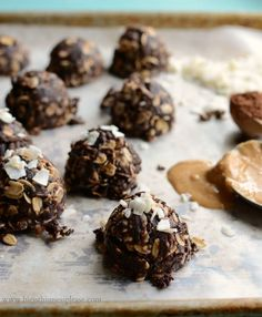 Healthier Coconut No Bake Cookies