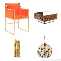 Home Decor Idea Including Worlds Away Chair Art Deco Furniture Ebb & Flow Ceiling Light And Key Box From August 2015