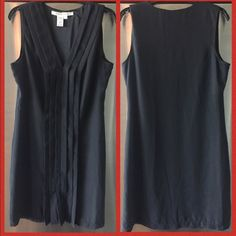 Black sleeveless shift dress  Be pretty and comfortable in this shift dress. Fully lined, knee length, worn once- excellent condition. If you like the dress, but not the price, make me an offer  Max Studio Dresses Midi