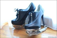Ice-skate heeled booties from #DSquared.