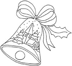 Christmas Bell Image Tree Coloring Page