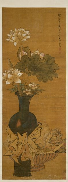 After Chen Hongshou | Vase of Flowers | China | Ming dynasty (1368–1644) | The Met
