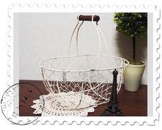 Pannier Basket ワイヤーバスケットかごアンティークカントリー雑貨 インテリア 家具 Antique ¥690yen 〆06月23日