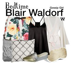 """Gossip Girl - Bedtime"" by wearwhatyouwatch ❤ liked on Polyvore featuring Agent Provocateur, H&M, Iluminage, Daniel Green, television, wearwhatyouwatch and pyjamas"