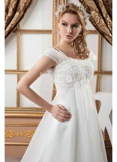 Empire Waist Plus Size Wedding Dress 2013 This definitely NOT a plus size model but the dress is pretty!!