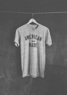 neuarmysurplus:  Neuarmy Surplus Co. American Made — letterpressed shirt.