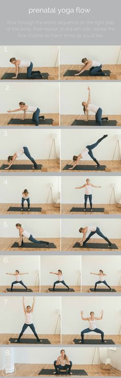 prenatal yoga flow workout pin | www.nourishmovelove.com