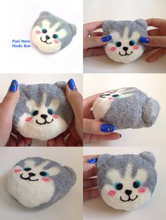 A part of the animal bun series. Homemade Squishies, Fun Diy Crafts, Pinterest Board, Husky, Chloe, Diys, Have Fun, Kawaii, Animal