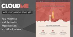 Cloud Me - Web Hosting, Responsive HTML Template
