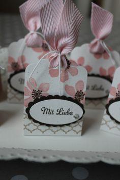Küsschen-Verpackung mit Liebe, Bild3, gebastelt mit Produkten von Stampin' Up!.