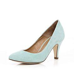 Light Blue Kitten Heels | Tsaa Heel
