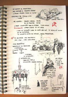 Art Journal Pages, Journal Layout, Travel Sketchbook, Art Sketchbook, Comic Book Layout, Architecture Sketchbook, Commonplace Book, Watercolor Journal, Journal Aesthetic