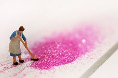 Glitter midden clean-up