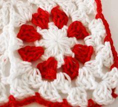 Cotton Crochet Granny Square Blanket by rocketandbear on Etsy