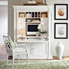 Stanhope Desk Library, Williams-Sonoma. Would be cute incorporated in a kitchen with matching cabinets