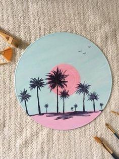 Art Cd, Cd Wall Art, Pastel Decor, Vinyl Record Art, Vinyl Art, Art Tropical, Tropical Interior, Engagement Ring Rose Gold, Art Sur Toile