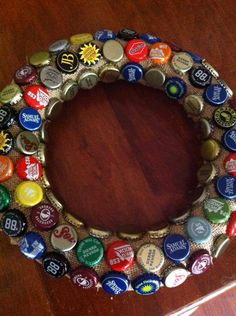 Beer caps! Why not?