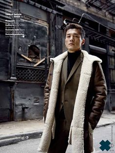 """Daisuke Ueda """"La Ville dans la Peau"""" by Cyril Matter for the November 2015 Issue of GQ France."""