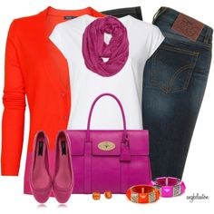 Bold colors for a fall day....stand out in the crowd!
