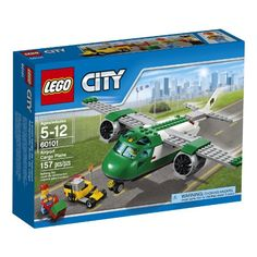 LEGO City Airport 60101 Airport Cargo Plane Building Kit 157 Piece ** Read more at the image link. (This is an affiliate link) Lego Sets, Lego City Sets, Lego City Police, Avion Cargo, Lego City Airport, Lego Plane, Lego Construction, All Lego, Jet Engine