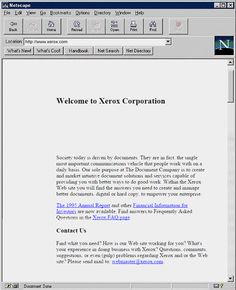 Early Xerox website