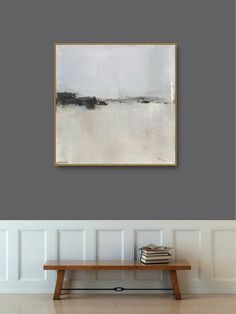 55a58cdec14db Items similar to Gold Framed Abstract Landscape Art Print on Paper, Framed  Large Paper Print, White Gray, Popular Colors, Landscape Art by Jacquie  Gouveia ...