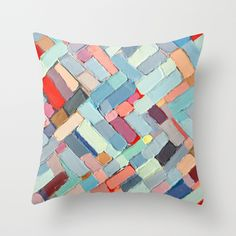 Summer in the City Throw Pillow by Ann Marie Coolick | Society6