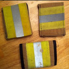Wallets made from old fire gear