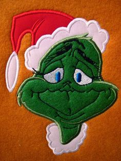 Grinch Christmas Embroidery Applique Design. $4.50, via Etsy.