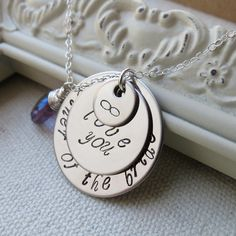 Mother of the Bride Groom NecklaceLove You to Infinity by lizix26, $32.00
