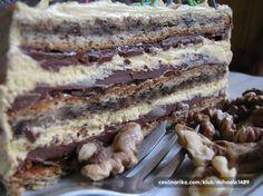 Vau,u odlična torta Evropa! Dessert Cake Recipes, Sweet Desserts, Sweet Recipes, Delicious Desserts, Dessert Cups, Dobos Torte Recipe, Torte Cake, Torte Recepti, Kolaci I Torte