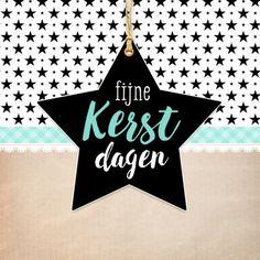 Trendy kerstkaart met leuk patroon in kraft stijl, verkrijgbaar bij #kaartje2go voor € 1,89