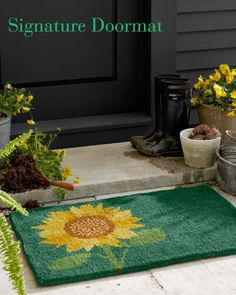 Garnet Hill Signature Doormat [Promotional Pin]