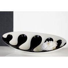 """schwarz-weiße Schale aus Holz und Fiberglas """"Black and White"""""""