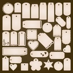Tags Galore SVG Collection from SVG cuts design elements - check out what else they have too