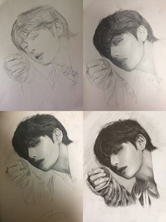 Pop Art Drawings Crying 57 Ideas For 2019 Fanart Bts, Kpop Drawings, Pencil Drawings, Art Sketches, Art Inspo, Art Reference, Pop Art, Taehyung, Hair Steps